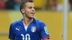 Italy's Sebastian Giovinco celebrates