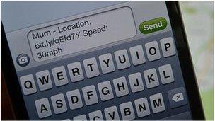 Smart phone text alert