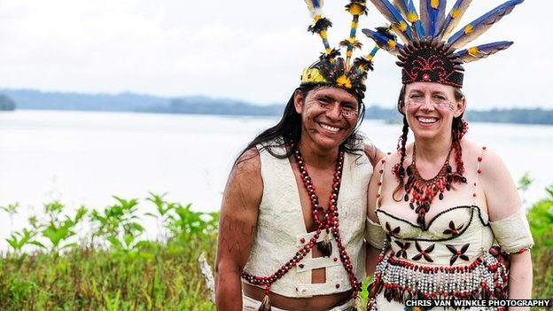 Mari Muench fell in love with shaman and community leader Patricio Jipa during a holiday in Ecuador