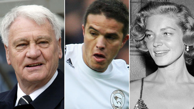 Sir Bobby Robson, Laurent Robert and Lauren Bacall