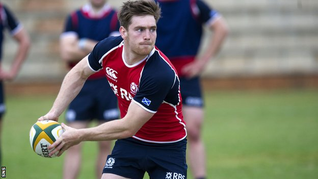 Tom Heathcote will start at number 10 for Scotland