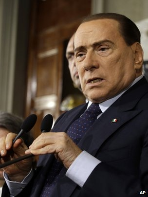 Italian Prime Minister Silvio Berlusconi in Rome, 23 April