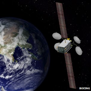 Artist's impression of the 702SP Boeing satellite