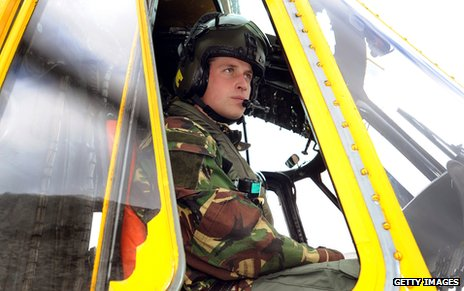 Prince William at work