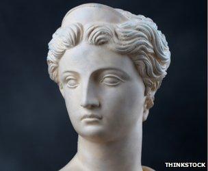 A statue of Artemis