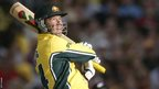 Ricky Ponting hits out in a one-day international