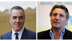 Liam Neeson and James Nesbitt