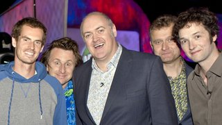 Andy Murray with Mock the Week team