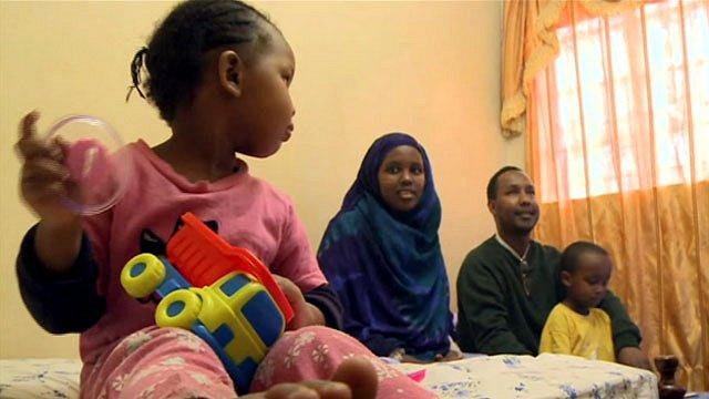 Somali family in Nairobi