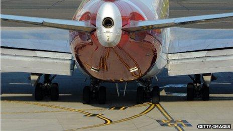 Qantas aircraft taxiing