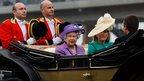 Queen Elizabeth II and Autumn Phillips