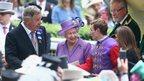 Queen Elizabeth II and Ryan Moore