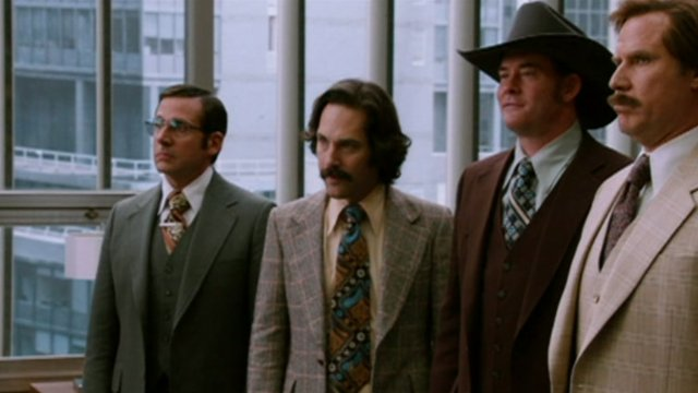 A scene from Anchorman: The Legend Continues