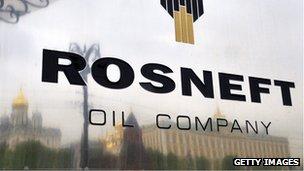 Rosneft nameplate