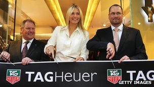 Maria Sharapova at a TAG Heuer store