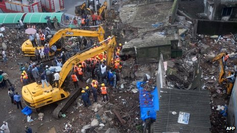 Mumbai building collapse on 21 June 2013