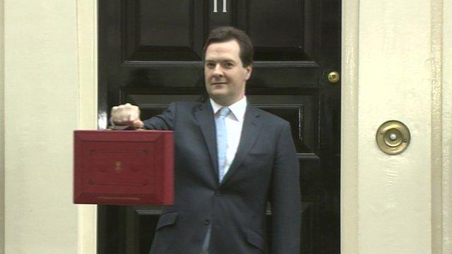 George Osborne outside number 11 Downing street.