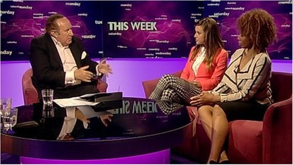 Andrew Neil, Charlie Webster and Trisha Goddard