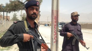 Security personnel in Quetta