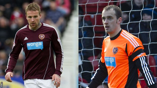 Midfielder Ryan Stevenson and goalkeeper Jamie MacDonald
