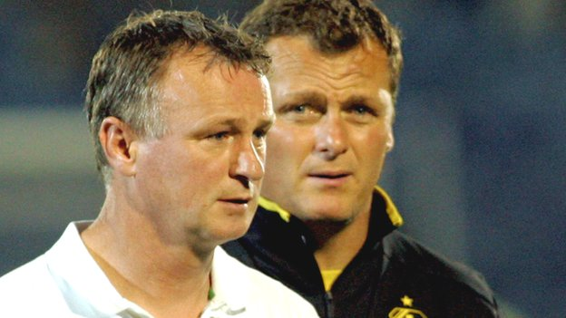 Michael O'Neill and Jim Magilton