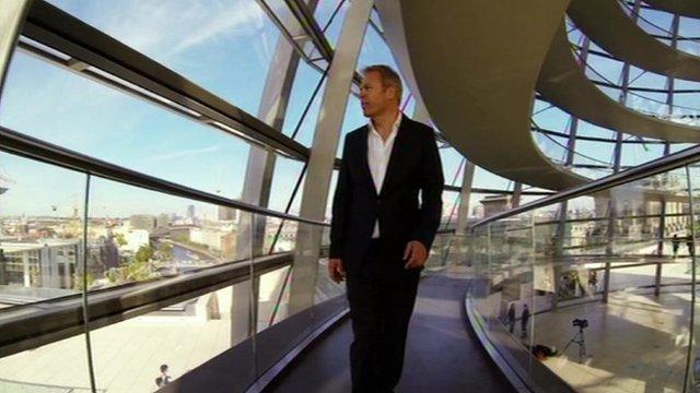 Gavin Hewitt in the Reichstag in Berlin