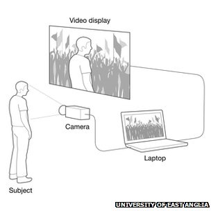 A diagram of how the virtual therapy was set up