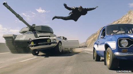 Scene from Fast & Furious 6