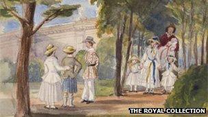 The Children At Osborne, by Queen Victoria, 1850