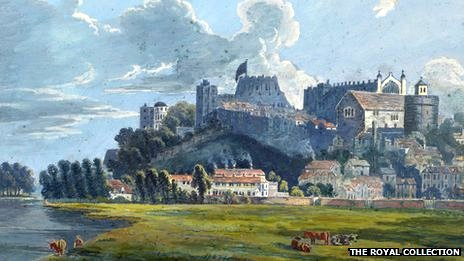 Painting of Windsor Castle by Prince Ernest Augustus