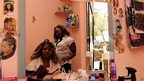 An Ivorian's hair salon in Rabat, Morocco - Tuesday 18 June 2013