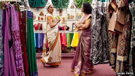 Women in an Asian shop in Leicester