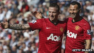 Alexander Buttner and Ryan Giggs