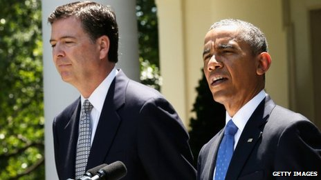 US President Barack Obama speaks during a news conference to announce his nomination of James Comey to become FBI Director 21 June 2013