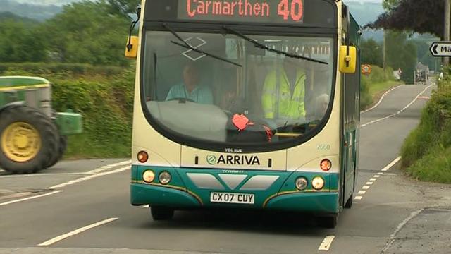 A rural bus service