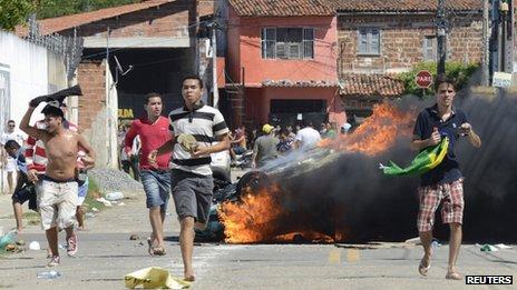 Protesters in Fortaleza. Photo: 19 June 2013
