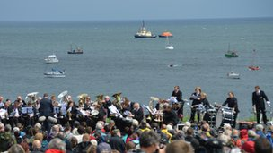Crowds at Souter Lighthouse watching Foghorn Requiem