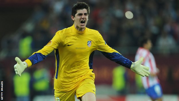 Atletico Madrid and Chelsea goalkeeper Thibaut Courtois