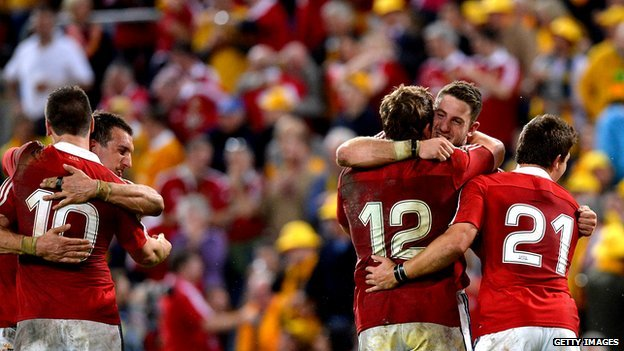 British & Irish Lions celebrate