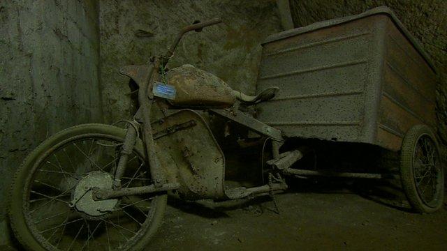 Discarded motorbike