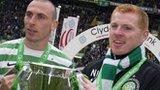 Celtic captain Scott Brown and manager Neil Lennon