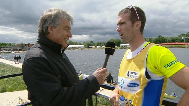 John Inverdale interviews Richard Chambers at Eton Dorney