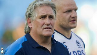 Scotland interim head coach Scott Johnson