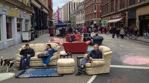 Sofas in the street