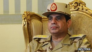 Egyptian army chief Gen Abdel-Fattah al-Sisi. Photo: May 2013
