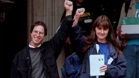 David Morris and Helen Steel, defendants in the McLibel case