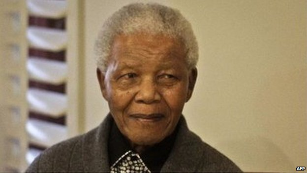 Former South African President Nelson Mandela during the celebration of his 94th birthday in 2012