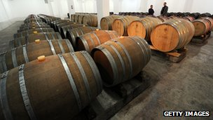 Wine barrels in Georgia