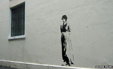 Mary Wollstonecraft graffiti