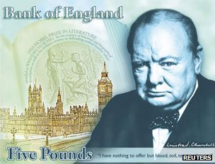 Facsimile of Churchill banknote